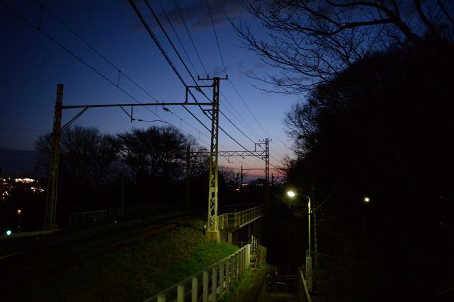1京王動物公園線と夜明け.jpg